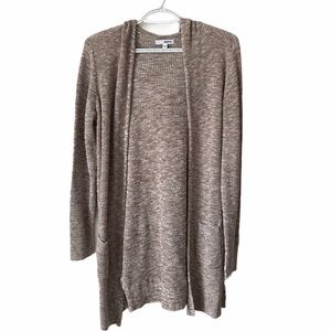 Long Duster Cardigan Hoodie Sonoma Brown Size L